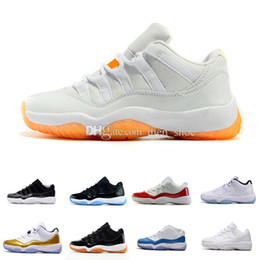 Wholesale Baron Plush - 2017 air retro 11 women men basketball Shoes Low Metallic Gold Closing Ceremony Navy Gum Blue university blue Barons bred concord sneakers