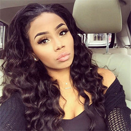 Wholesale hand tied virgin hair - 7A Glueless Full Lace Human Hair Wigs For Black Women Loose Curly Wave Lace Front Human Hair Wigs Brazilian Virgin Hair Lace Wig