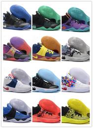 Wholesale Mesh Touring - Hot Sale Size 7 11 Wholesale Kyrie Irving 2 Duke Black GoldBHMTour Parade ChampionshipBasketball Shoes High Quality FreeShipping
