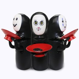Wholesale bank models - Creative Electric Piggy Spirited Away No Face Bank Automatic Coins Collection With Music Coin Collector Model Figure Doll 48tm B