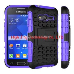 Wholesale Heavy Duty Mobile - Hybrid Kickstand Case Heavy Duty Durable TPU PC Robot Cases For Samsung Galaxy A8 Ace4 G313 note 3 Mobile Phone Case