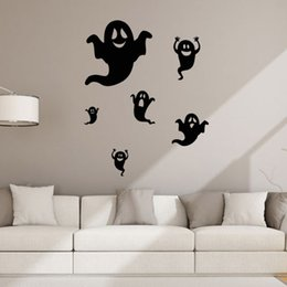 aw9434 creative halloween ghost wall stickers diy creative party decoration halloween kids gift sticker shop store window decal from dropshipping suppliers - Halloween Supply Store