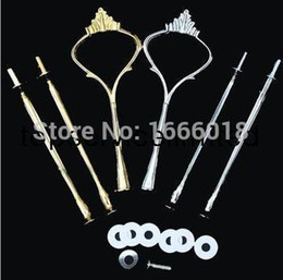 Wholesale Tier Handles Heavy - long thread Cake Stand Handles Cake Stand Fittings 3-Tier crown VERY HEAVY and STRONG 0602fineworks