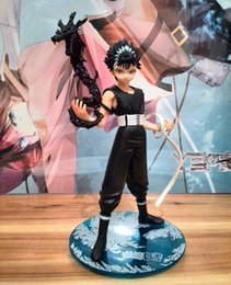 Wholesale Hakusho Figures - 20cm YuYu Hakusho Anime Hiei Boxed Action Figures PVC brinquedos Collection Figures toys for christmas gift