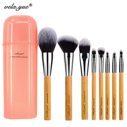Wholesale Deluxe Makeup Brush Set - Vela .Yue Deluxe Makeup Brush Set Synthetic Face Cheek Eyes Lips Beauty Tools Kit With Gift