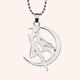stick necklaces Coupons - Hot Sale New Fashion Anime Accessaries Sailor Moon Tsukino Usagi Moon Stick Cosplay Women Pendant Necklace ZJ-0903421