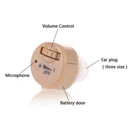 2019 amplificadores de aparelhos auditivos recarregáveis Aparelhos Auditivos Recarregáveis Ear Care Amplificador Audiphone Invisible Surdos Aid Portátil de Peso Leve Ouvir Assistência Frete grátis S-85 desconto amplificadores de aparelhos auditivos recarregáveis