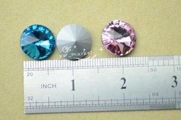 Wholesale Rivoli 18mm - 50 PCS 18mm Glass Color Glass Faceted Glass Rivoli Jewels