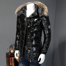 Wholesale Coat Man Photos - Wholesale- Real Photos Men Down Jacket Brand High Quality Men Fashion Warm Hooded Fur Collar Slim Down Coats Winter Jackets Snow #675