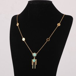 Wholesale Enamel Link Necklace - Top quality Marc by marc jacob# Enameled enamel round card is a long necklace female with multi-drop character in 63cm length sweater neckla