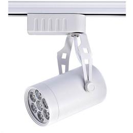 Wholesale 12w Led Track Light - DHL shipping Black White LED track light 7W 9W 12W 15W 18W lighting Natural Cool Warm White Led Ceiling Wall Spot Lights 85V-265V