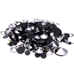 Wholesale Hematite 4mm - Hematite Acrylic Rhinestones For 3D Nails Art 4mm 5mm 6mm 10mm And Mixed Sizes Glue On Stones DIY Crafts Designs Decorations