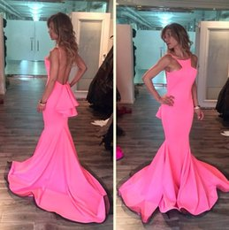 Wholesale Evening Dresses Grace Karin - 2016 Pink Mermaid Grace Karin Evening Dresses Murad Dress Backless Sweep Train Sexy cheap Party Bridal Gowns