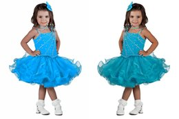 Wholesale Toddlers Pageants Dresses For Sale - Hot Sale Simple Layered Ruffled Short Mini Skirt Infant Toddler Cupcake Crystal Pageant Dresses For Cute Little Girls Formal Occasion