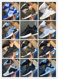Wholesale Clear Net Lights - Hot New Arrival NMD XR1 Boost Duck Camo Navy White Army Green Top quality MND III Net Surface Running Shoes For men sports Free Shipping