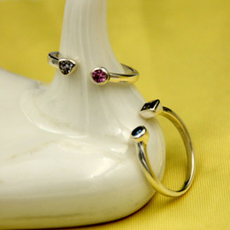 Wholesale Love Design Beauty - 925 pure silver jewelry ring design simple and beautiful fashion trend love beauty ladies first choice That Has Grade Rings