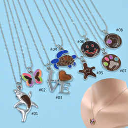 Wholesale Change Slide - Changing Color Necklace Mood necklace Emotion Feeling Temperature Animal Pendant necklace