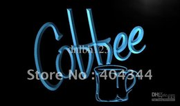 Wholesale Advertising Coffee Cups - LM228-TM Coffee Cup Shop Cafe Display Neon Light Sign. Advertising. led panel, Free Shipping, Wholesale