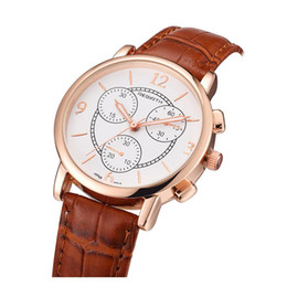 Wholesale imitation designer watches - Luxury Watch Brand Designer For Women Round Quartz Table Busines Wristwatch With Imitation Leather Buckle Brands Waterproof Watch Ladies