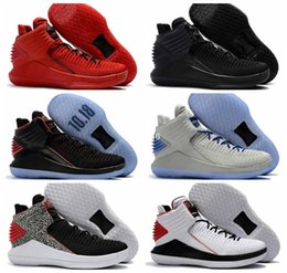 Wholesale Corsa Black - 2017 New Arrival Retro 32 XXXII Flights Speed Mens Basketball Shoes Red Black Rosso Corsa MJ Day Retros Basket Ball Sports Sneakers 7-12