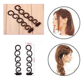 Wholesale twist braids bun - braiding hair band twist black creative for Women Hair Accessories headwear holder bun bang DIY