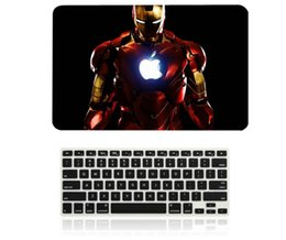 "Wholesale Iron Man 12 - Iron Man Pattern Hard Case + Keyboard Cover for Apple Macbook Pro   Air   Retina 12 13 15"" Air 11 13""inch Mac Skin"