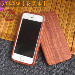 Wholesale Back Cover Housing Iphone5 - For Iphone 5 5s Bamboo Case Wooden Hard Back Cover Nature Handmade Wood Shell For Apple Iphone5 Phone Housing Protector