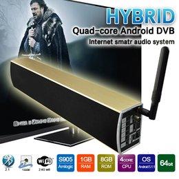 Wholesale Speaker Sub Woofer - Android Tv Box DVB T2 KS2 Android5.1 S905 1G+8G Wifi 4K HDMI2.0 Sub Woofer Speaker Smart Tv Box Media Player