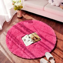 Wholesale Blue Area Rugs - Hot Cheap High Qualiy Round Shaggy Area Rugs and Carpet Super Soft Bedroom Carpet Kids Play Mat 3 Sizes