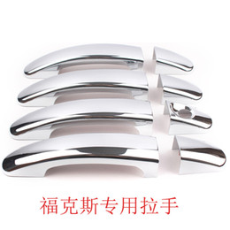 Wholesale Ford Trim - For Ford 12 Focus KUGA ESCAPE 2013 2014 2015 Car ABS Chrome Door Handle Cover Trim Car Accessory 8 pieces set
