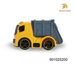 Wholesale Mini Construction Cars - Free shipping Construction Toy Inertia Garbage Mini Truck in City Engineering Toy Car with Light and Music Including 3*AG13 Battery