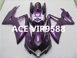 Wholesale gsxr fairing purple - 3 gifts Motorcycle Fairing kit for SUZUKI GSXR600 750 K8 08 09 GSXR 600 GSXR 750 2008 2009 Motorcycle Fairings set ABS Compression Purple