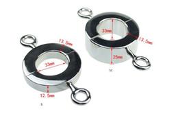 2019 ciondoli scrotum Barelle metalliche Ball Scrotum Pendant Testis Peso Restraint Lock Ring giocattoli maschili 3 Dimensioni per la vostra scelta ciondoli scrotum economici