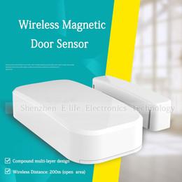 Wholesale Magnetic Sensor Door 433mhz - High Quality Intelligent 433Mhz Wireless Magnetic Door Sensor, Window Contact, Door Alarm For Home Alarm Burglar Security System