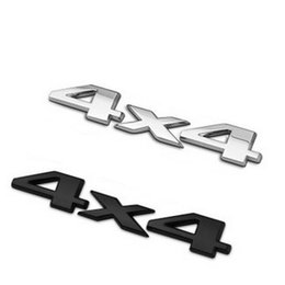 3d auto stickers Promo Codes - Black Silver DSYCAR Plastic+aluminum 3D 4x4 Displacement Car stickers Logo Emblem Badge Truck Auto Motor Car Styling Sticker Decal