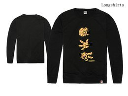 Wholesale Kids Long Sleeve Tee Shirts - Men's Clothing Booger kids T-shirts Fashion Streetwear Hip Hop long sleeve Brand tee Men Casual best quality free shipping
