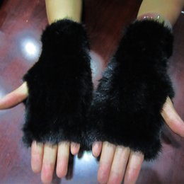 Wholesale Real Gloves - Wholesale- Real Mink Fur Gloves Knitted Women Mittens Fashion Winter Style Gloves DI8