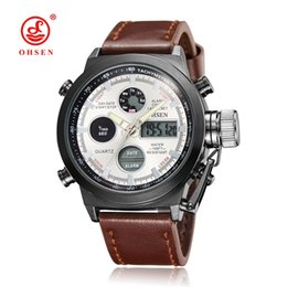 Wholesale Multifunctional Digital Watch - 2017 Hot Sale Ohsen Brand Causal Quartz Man Male Waterproof Dress Business Wrist Watch Alarm Multifunctional Watch Relojoes For Hombre Gift