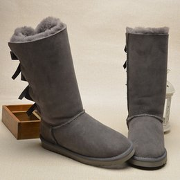 Wholesale Warm Tall Winter Boots - 2016 NEW High Quality THREE BUTTERFLY Womens boots Women's Classic tall Boots Boot Snow boots Winter boots WARM boots size 5-10