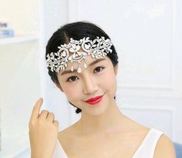 Wholesale High End Crowns Tiaras - Silver high-end tiara crown luxury bridal headband handmade headdress wholesale rhinestone jewelry wedding crowns hair accessories