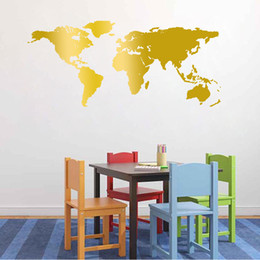 Wholesale Big World Map - 1PC Cute Big World Map Pattern Wall Sticker Removable & Waterproof No Pollution For Baby Bedroom Home Decoration 55*130cm