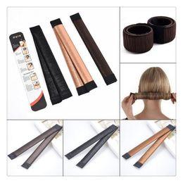 Wholesale Updo Hair Accessories - Fashion Hair Ties DIY Styling Tools Hair Wig Accessories Hair Bun Updo Fold Wrap Snap Styling Tool Magic Bun Maker Free Shipping