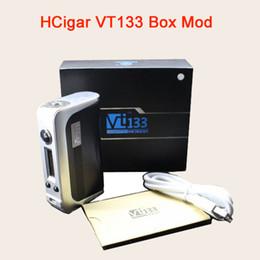 Оригинальный HCigar VT133 Box Mod 133W с набором микросхем Evolve DNA 200 с двойной емкостью батареи 510 с пружинной загрузкой DHL Free TZ706 cheap hcigar box от Поставщики коробка hcigar