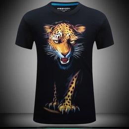 Wholesale Leopard Print Mens Tees - 2016 New Plus Size Mens Cotton 3D Print T shirt Brand Clothing3 D Fahion summer casual tee tops For Men homme camisetas