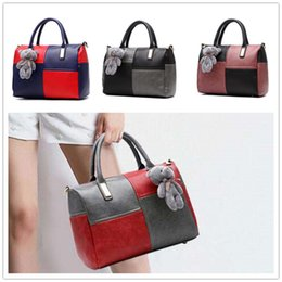 Wholesale Tweed Fabric Cheap - Hot sale Cheap new sweet temperament noble lady spell color women shoulder bag Messenger BAG47