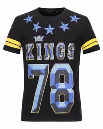 Wholesale Polo Original - KINGS 78 Cotton Polo T-shirts Mens Crown & Stars Diamonds 3D Printed Short Sleelve originals Male Sports Tank Tops Tee Shirts 18211
