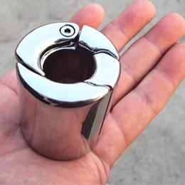 anéis de torneira de aço ajustável Desconto Aço inoxidável Penis Bondage Diâmetro Interno Ajustável Penis Anel Galo Anéis Pingentes de Treinamento do Pênis Falo para O Sexo Masculino B2-2-159