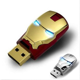 Wholesale 32gb Usb Flash Pen Drive - Iron Man 2GB 4GB 8GB 16GB USB 2.0 Flash Memory Stick Pen Drive Storage Thumb Disk Real Capacity USB