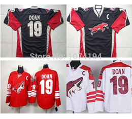 Wholesale Field Full - Cheap Phoenix Coyotes #19 Shane Doan Jersey Red Home Team C Patch Hockey Jersey Stitched Authentic On Field Jersey Free Shipping