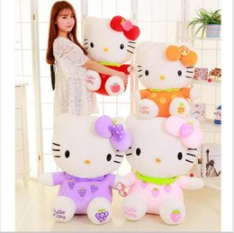 jouets de tortue rouge Promotion Big Hello Kitty Poupée Animaux En Peluche Jouets Haute Qualité Hello Kitty Peluche Jouets Cadeau Pour Fille